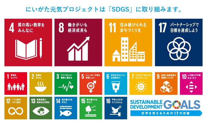 にいがた元気プロジェクトは「SDGS」に取り組みます。